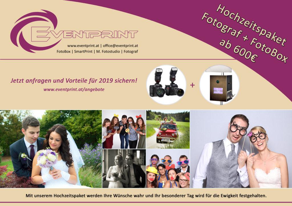 Hochzeitspaket - Fotograf + Fotobox