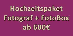 Hochzeitspaket: Fotograf + FotoBox